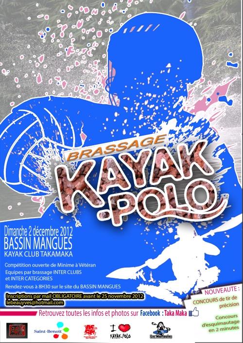 affiche kayak polo 2 decembre